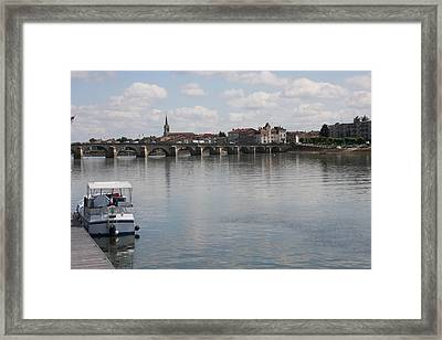 Stone Arch Bridge - Macon Framed Print by Christiane Schulze Art And Photography