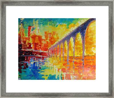 Stone Arch Bridge Framed Print by Nelya Shenklyarska