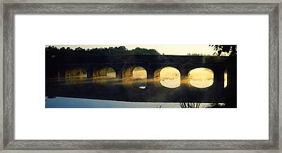 Stone Arch Bridge Over A River, Loire Framed Print by Panoramic Images