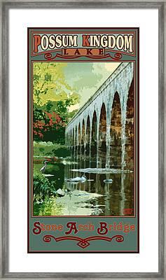 Stone Arch Bridge Possum Kingdom Framed Print by Jim Sanders