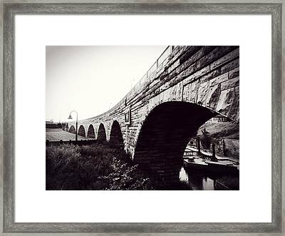 Stone Arch Bridge Framed Print by Zinvolle Art