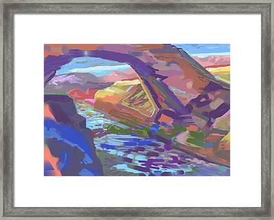 Stone Arch Framed Print by Howard Ganz
