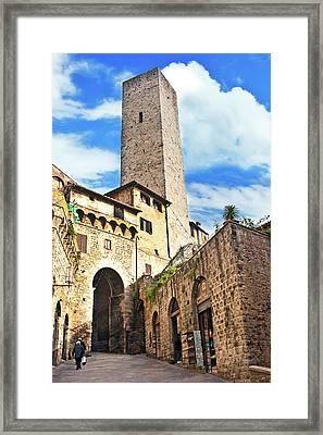 Stone Arch De Becci De Cuganesi Tower Framed Print by Miva Stock