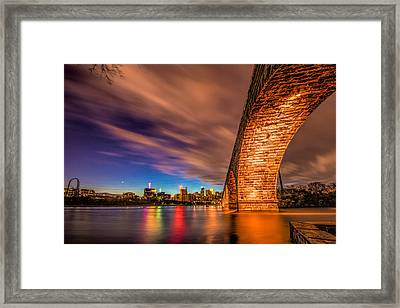 Stone Arch Minneapolis Framed Print by Mark Goodman
