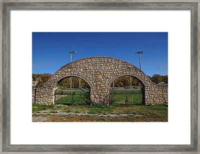 Stone Arches At Roosevelt Field Framed Print by Alan Hutchins