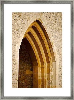 Stone Archway At Tower Hill Framed Print by Christi Kraft