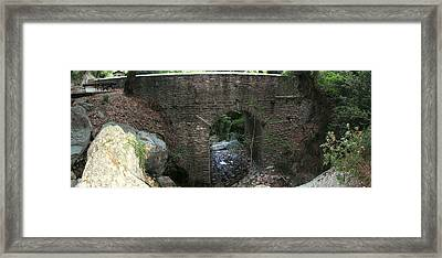 Stone Archway Panorama Framed Print by Panos Spiliadis
