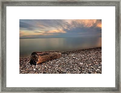 Stone Beach Framed Print by James Dean