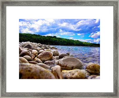 Stone Beach Framed Print by Zafer Gurel