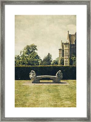 Stone Bench Framed Print by Joana Kruse