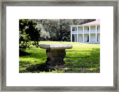 Stone Bench Framed Print by William Tucker