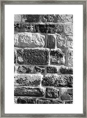 Stone Brick Wall Framed Print by Jagdish Agarwal