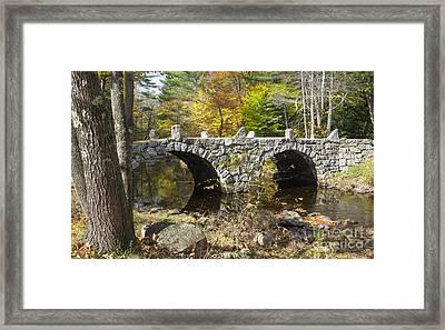 Stone Bridge - Hillsborough New Hampshire Usa Framed Print by Erin Paul Donovan