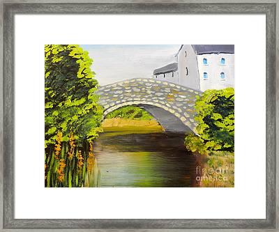 Stone Bridge At Burrowford Uk Framed Print