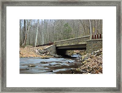 Stone Bridge At Cherry Run #1 - Bald Eagle State Forest Framed Print