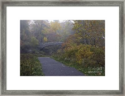 Stone Bridge In Autumn 3 Framed Print