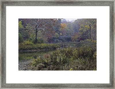 Stone Bridge In Autumn I Framed Print by Michele Steffey