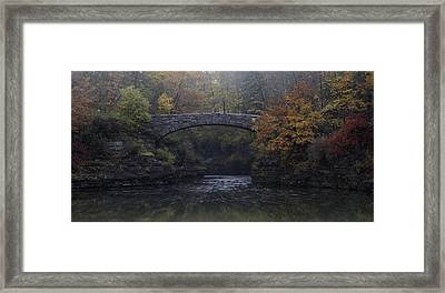 Stone Bridge In Autumn II Framed Print by Michele Steffey