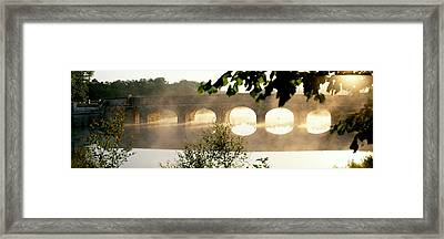Stone Bridge In Fog, Loire Valley Framed Print by Panoramic Images