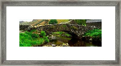 Stone Bridge Over A Canal, Watendlath Framed Print by Panoramic Images