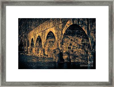 Stone Bridge Framed Print by Tim Kravel