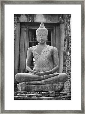 Stone Buddha Framed Print by Adam Romanowicz