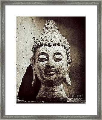 Stone Buddha Framed Print by Kate McKenna