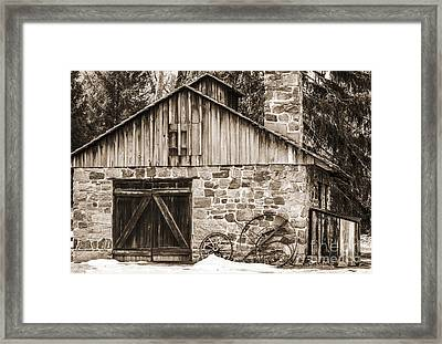 Stone Cabin 2 Framed Print by Judy Wolinsky