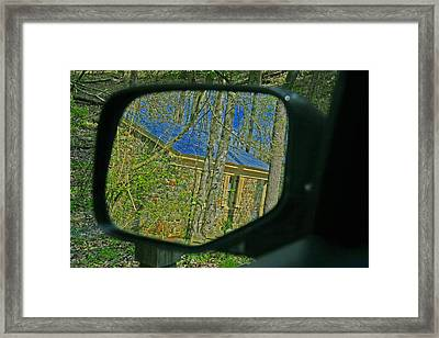 Framed Print featuring the photograph Stone Cabin Reflection by Andy Lawless