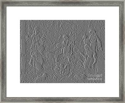 Stone Carving Of Nativity Framed Print by Renee Trenholm