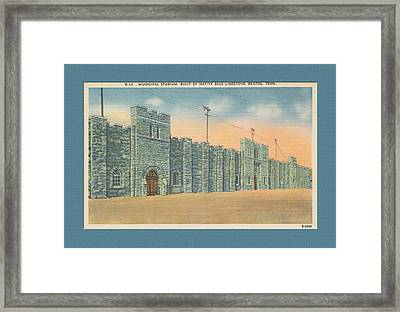 Stone Castle Bristol Tn Built By Wpa Framed Print