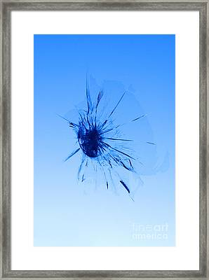 Stone Chip In Windscreen Framed Print by Colin and Linda McKie