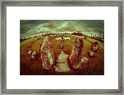 Framed Print featuring the photograph Stone Circle by David Isaacson