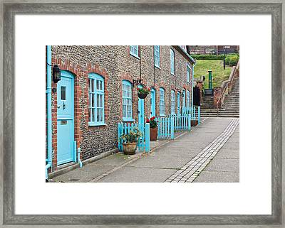 Stone Cottages Framed Print by Tom Gowanlock
