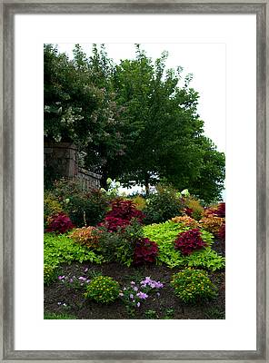 Framed Print featuring the photograph Stone Entrance by Cathy Shiflett