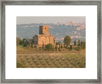 Framed Print featuring the photograph Stone Farmhouse by Marcia Socolik