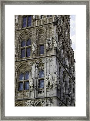 Stone Figures On City Hall Cologne Germany Framed Print by Teresa Mucha