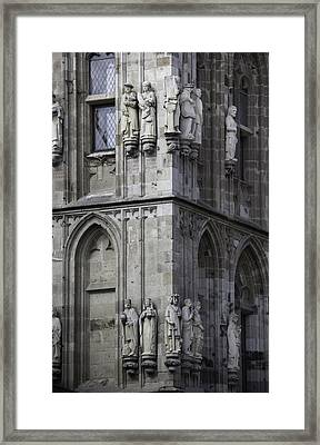 Stone Figures On Rathaus Cologne Germany Framed Print by Teresa Mucha