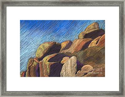 Stone Formations Framed Print by Pattie Calfy