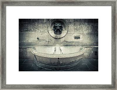 Stone Fountain Framed Print