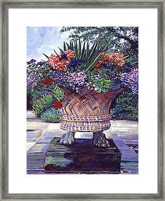 Stone Garden Ornament Framed Print by David Lloyd Glover