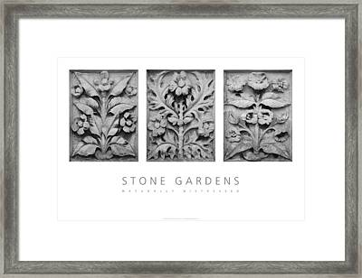 Framed Print featuring the digital art Stone Gardens 1 Naturally Distressed Poster by David Davies