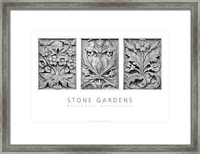 Framed Print featuring the digital art Stone Gardens 2 Naturally Distressed Poster by David Davies