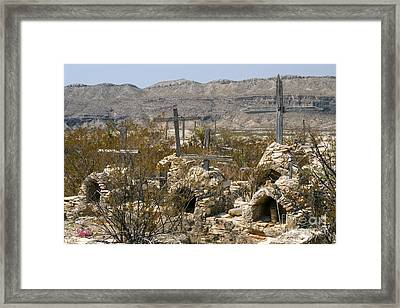 Stone Gravesites Framed Print by Bob Phillips