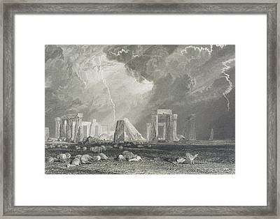 Stone Henge Framed Print by Joseph Mallord William Turner