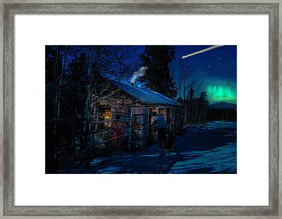 Stone House Aurora/ Dazzling Homecoming Framed Print