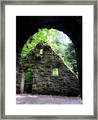 Stone House Doorway Framed Print by Lizbeth Bostrom