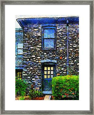 Stone House In Chester Framed Print by RC deWinter