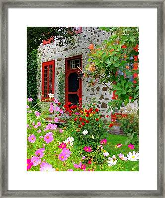Stone House In The Country Framed Print by Rick Todaro