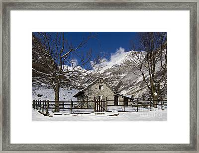 Stone House Framed Print by Maurizio Bacciarini